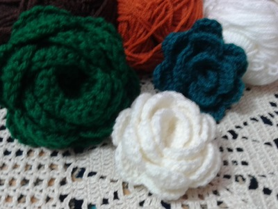 How to: crochet flower 3d step by step Free. Crochet Pattern. ( Video Tutorial )