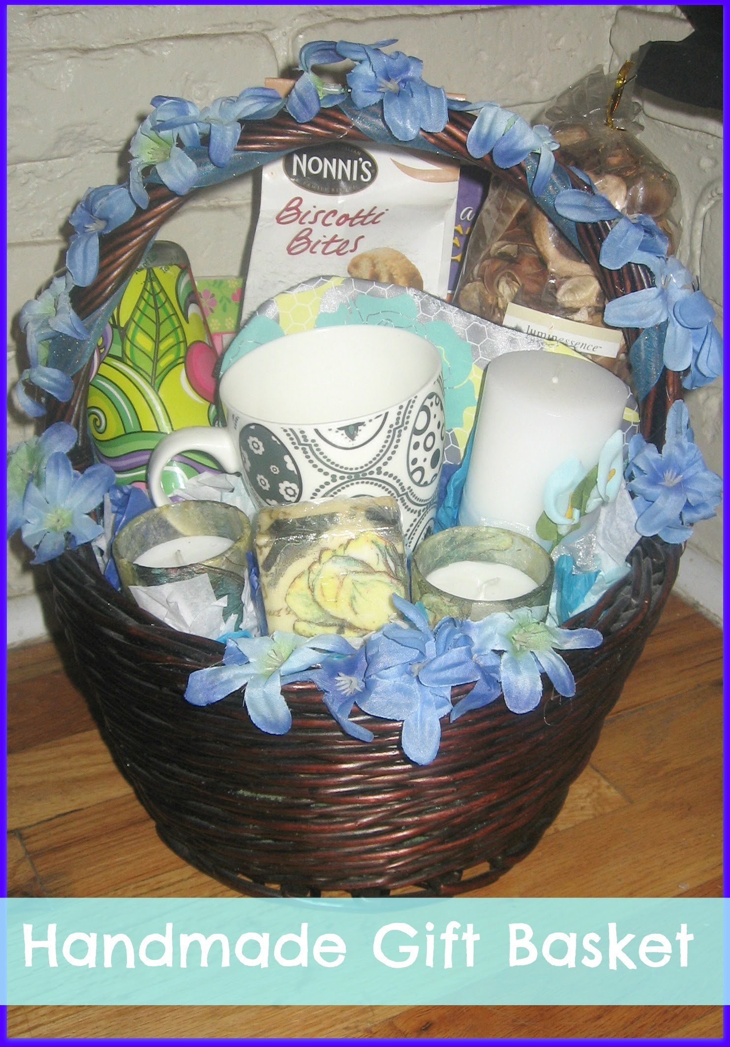 How to make a handmade.DIY simple gift basket. how to ship a gift basket in the mail