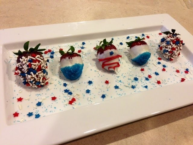 How to make Fourth of July Strawberries