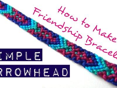 How to Make Friendship Bracelets ♥ Simple Arrowhead