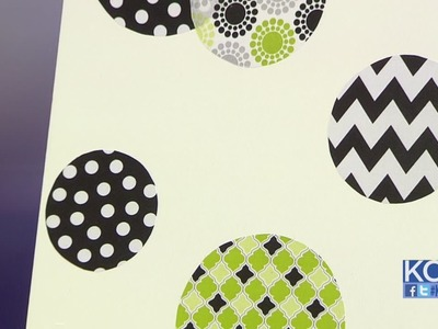 KCL - DIY Wednesday: Fabric wall decals for your home