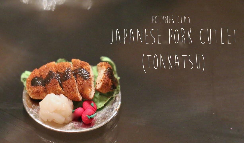 Miniature Polymer Clay Tutorial; Japanese Pork Cutlet