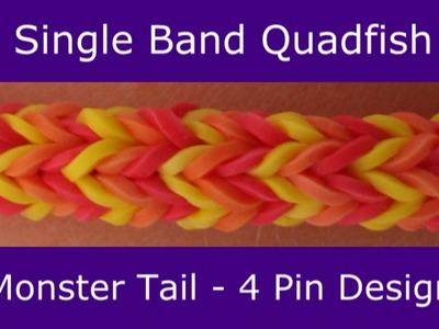 Monster Tail® Single Band Quadfish Bracelet by Rainbow Loom