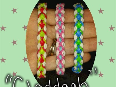 "My New Reversible "" Claddagh"" Rainbow Loom Bracelet.How To Tutorial"