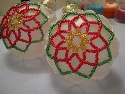 Poinsettia Beaded Ornament ~ Part 2 of 2