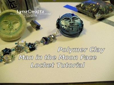 Polymer Clay Man in the Moon Locket Tutorial