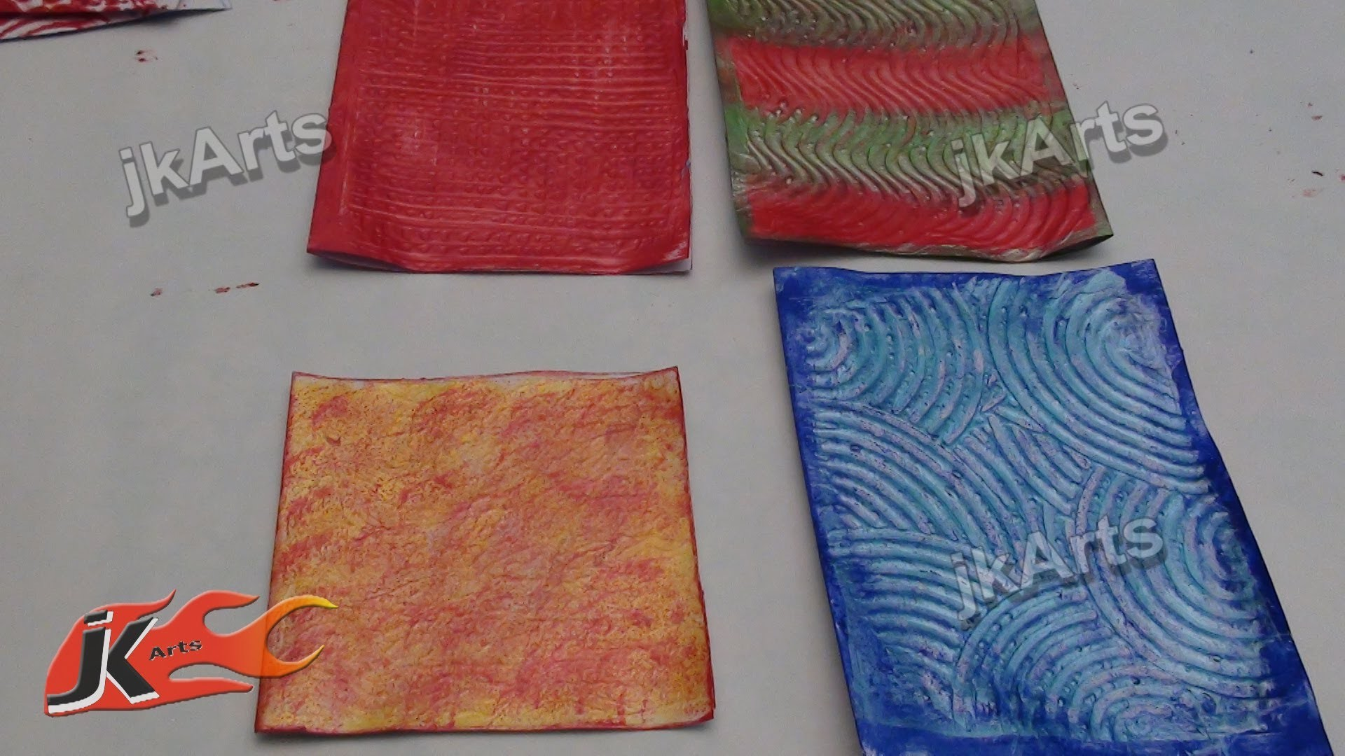 DIY 3D Textures with Glue for Name Plate and Greeting Cards - JK Arts 279