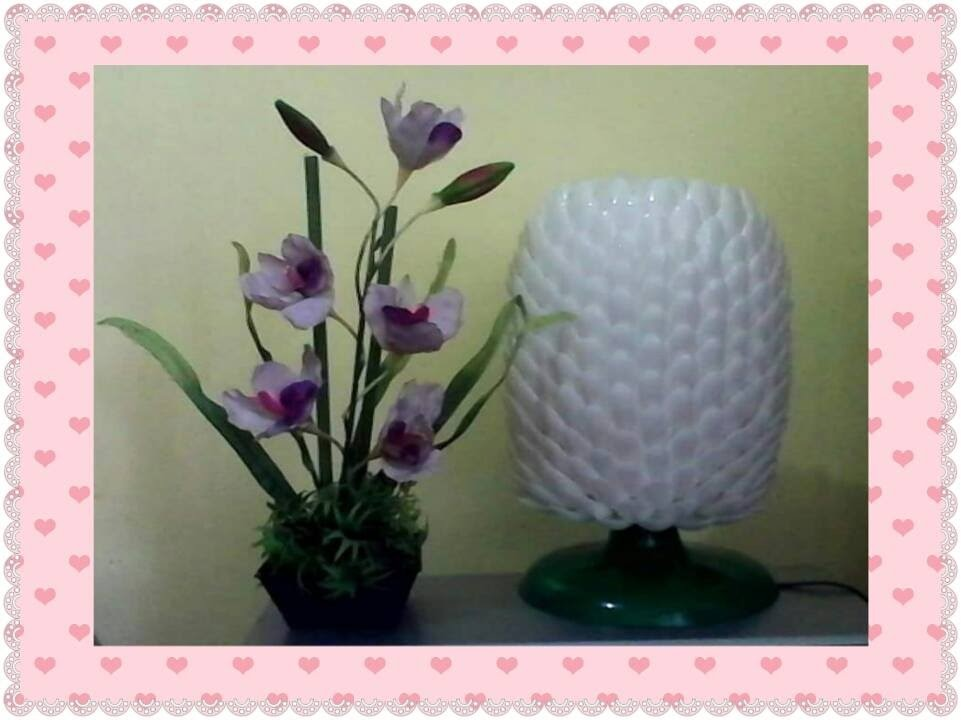 DIY# 5 TABLE LAMP (WITH STAND) MADE OF SPOONS