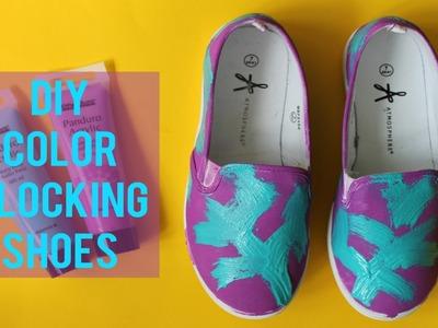 DIY Color Blocking Shoes | Back To School DIY