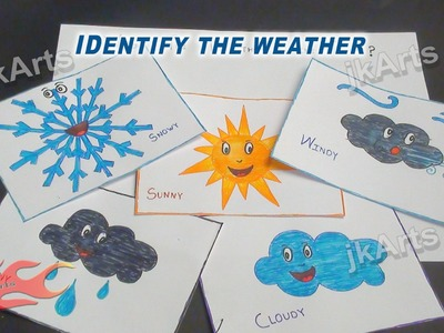 DIY Identify the Weather Game | Learning Game for Kids -   - JK Easy Craft 007