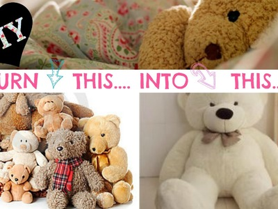 DIY NO SEW Stuffed Animal Solution - Super easy!