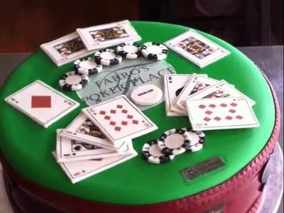 Fondant Poker Cake