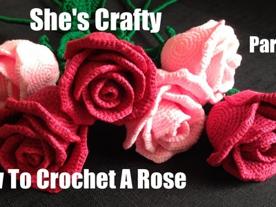 How To Crochet A Rose: Easy Crochet lessons to crochet flowers part 3:1