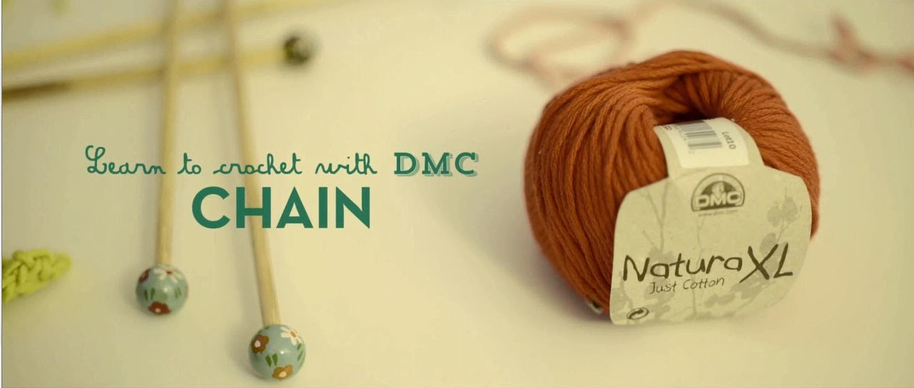 How to Crochet with DMC: chain stitch
