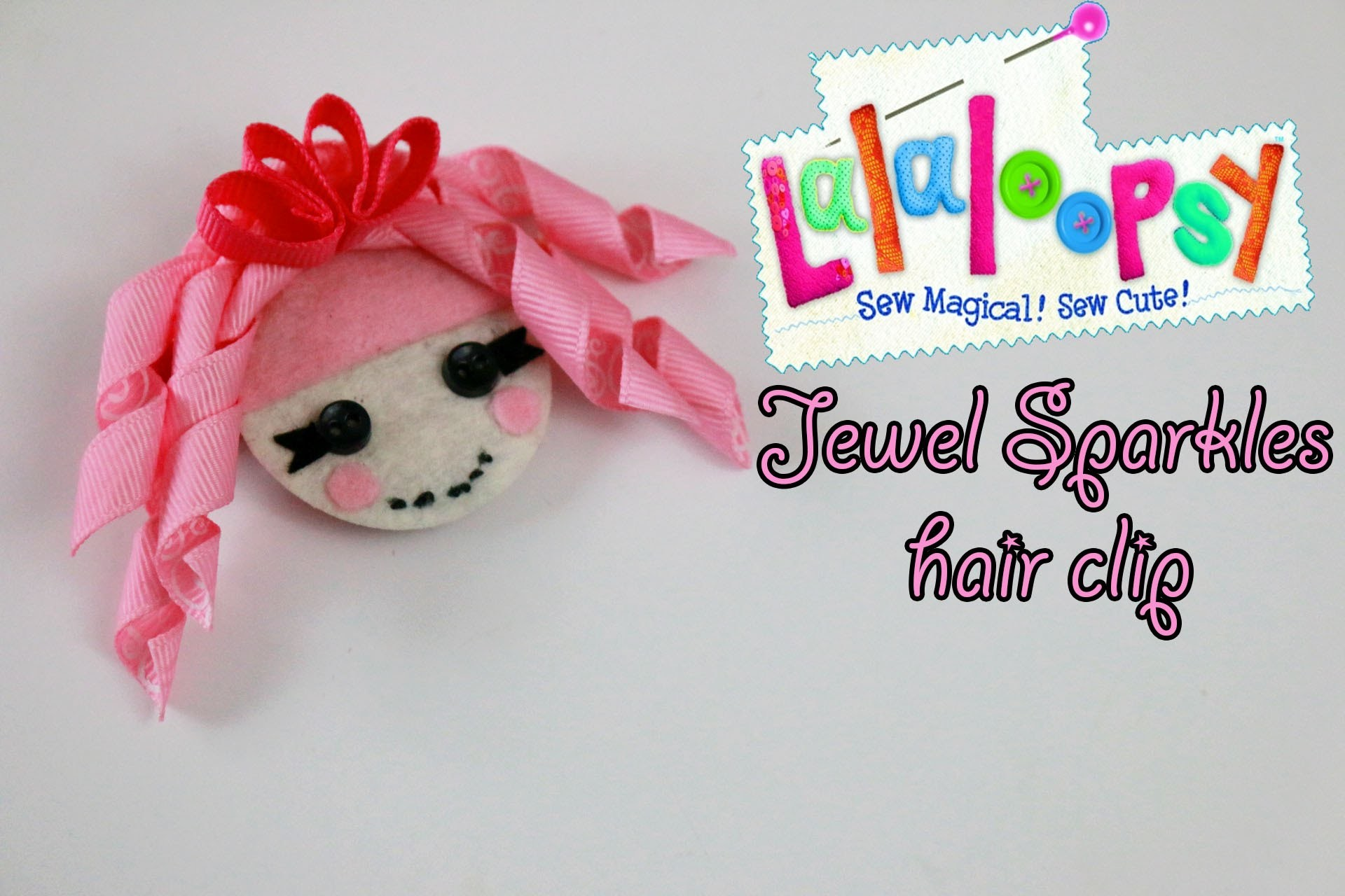 How To: Lalaloopsy hairbow tutorial  | Cinder Slippers Scoops Waffle Cone crazy hair
