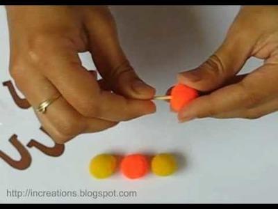 How to Make a Pom-Pom Bee Toy