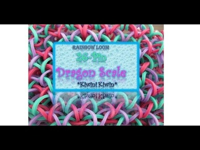 How To Make A Rainbow Loom 26-Pin Dragon Scale bracelet