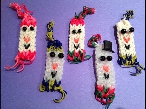 How to Make a Snowman Bracelet - rainbow loom