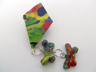 How to make Kite Pin from Polymer Clay