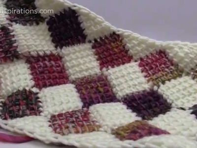 How to Tunisian Entrelac Rectangle Afghans