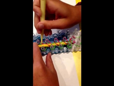 Make a pencil cover with rainbow loom!