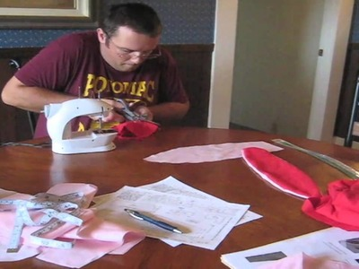 Making a Christmas Story Bunny Suit