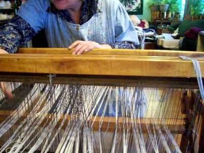 Nancy Today: (warp 7) How to thread heddles on a floor loom (weaving 7) ASMR weaving