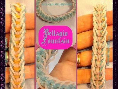 "New "" Bellagio Fountain"" Rainbow Loom Bracelet.How To Tutorial"