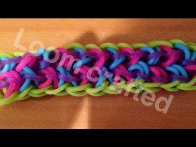 Rainbow loom angel wing bracelet (original design)