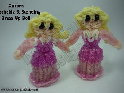 Rainbow Loom Princess Aurora Charm.Action Figure - Detachable Skirt & Standing Doll - Gomitas