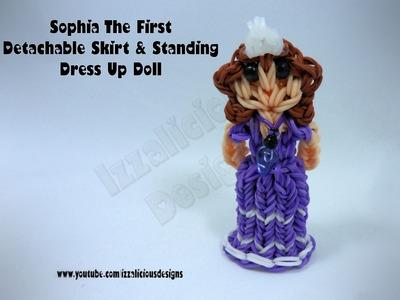 Rainbow Loom Princess Sofia Charm.Action Figure - Detachable Skirt.Standing Dress Up Doll - Gomitas