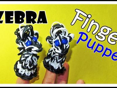 Rainbow Loom ZEBRA: Finger Puppet tutorial