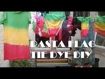 Rasta Flag DIY Tie Dye T-shirt