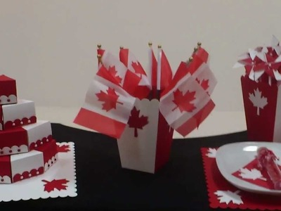 Simple party decorations for Canada Day