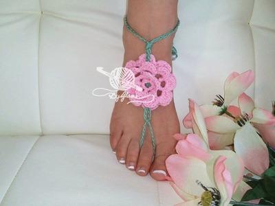 Springtime Barefoot Sandals Crochet Tutorial on DVD