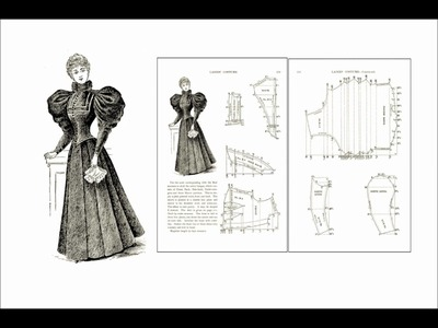 Victorian Era Ladies Costume Design patterns slideshow