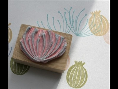 Carve a Cow Parsley Rubber Stamp