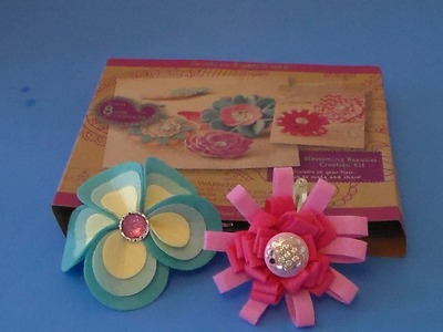 Craftabelle Make Your Own Flower Hair Accessories Bobby Pin & Barrette Craft Kit