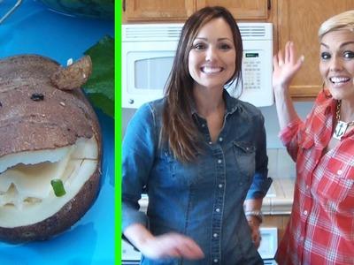 "Cute Food: How to Make a Baked Potato ""Hippotatomus"""