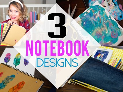 DIY 3 Creative NoteBook Designs for School | ANNEORSHINE