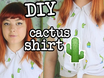 DIY Cactus Shirt | Cropped, Tie-Up Style