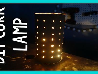 DIY CORK LAMP | DOLLAR STORE CRAFT