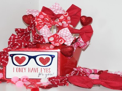 DIY No Sew Bows I Valentine's Day Theme