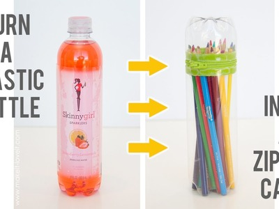 DIY No-Sew Zipper Cases. from plastic bottles.