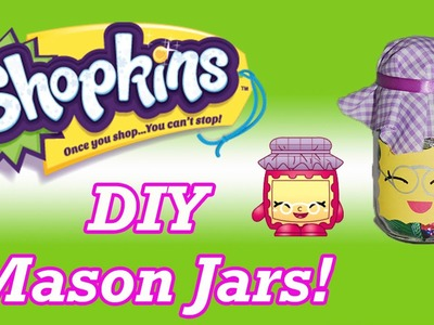 DIY Shopkins Gran Jam Mason Jars Storage Candy Container Birthday Party Favors