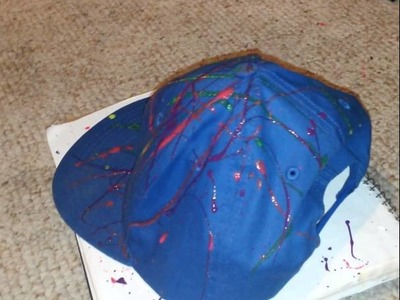 DIY splatter paint hat tutorial