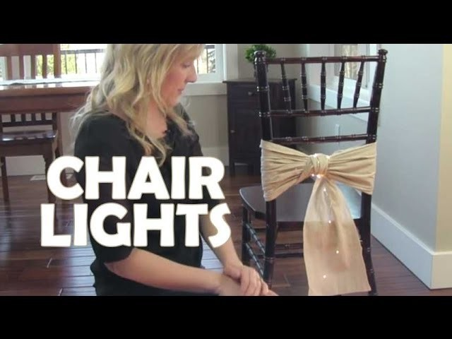 How to Add Light to Chair Sashes and Covers