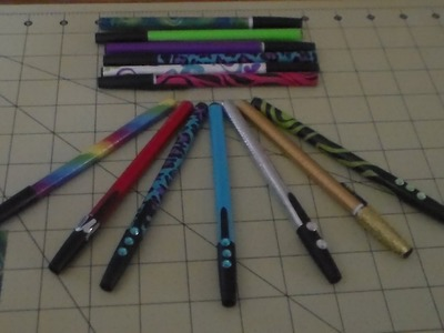 How to decorate you Pens with Duct Tape