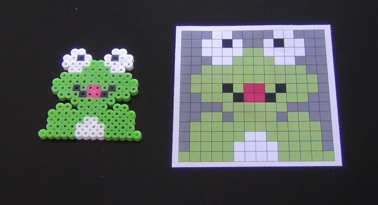 How to Make a Cute Perler Bead Girl Frog - Part 1