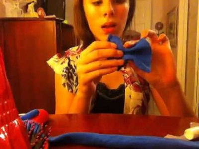 How to make a hair bow out of a tee shirt!